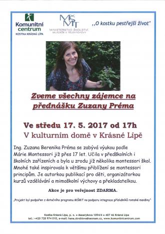 Přednáška Zuzany Préma