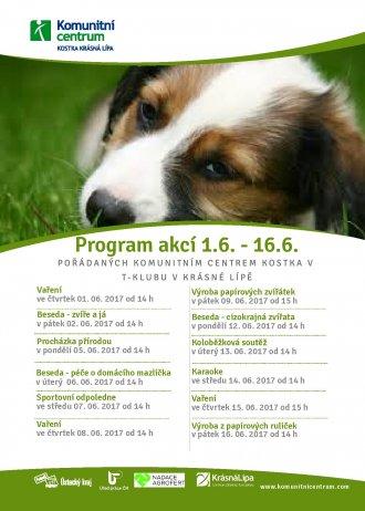 Program akcí Amari klub - 1.6.-16.6.2017