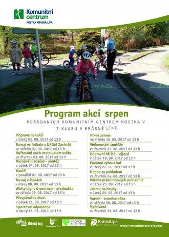 Program akcí T-klub - srpen 2017