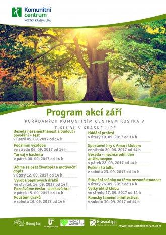 Program akcí T-klub - září 2017