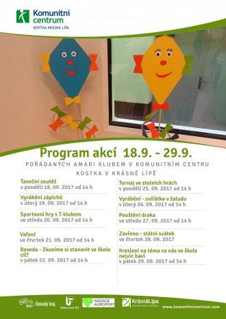 Program akcí Amari klub - 18.9.-29.9.2017