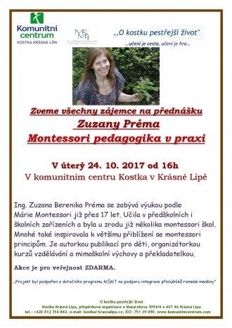 Přednáška Zuzany Préma na téma Montessori pedagogika v praxi