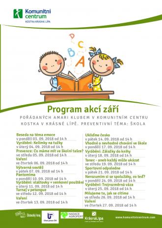 Program akcí Amari klub - září 2018