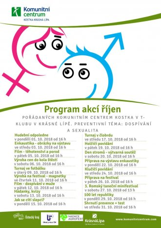 Program akcí T-klub - říjen 2018