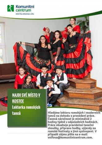 Hledáme lektorku romských i moderních tanců