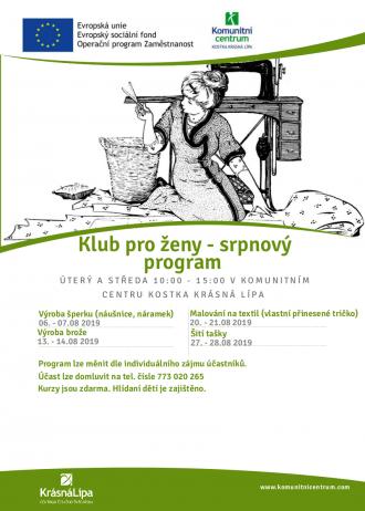 Klub pro ženy - srpnový program