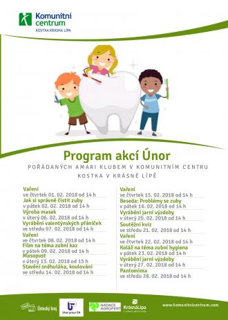 Program akcí Amari klub - únor 2018
