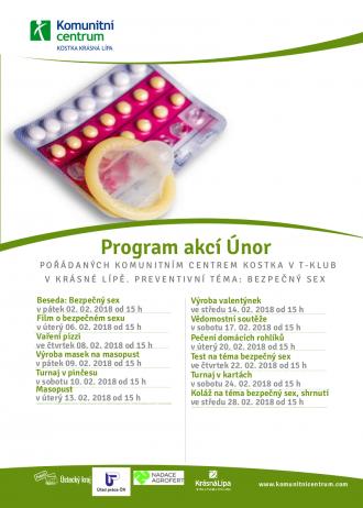 Program akcí T-klub  - únor 2018
