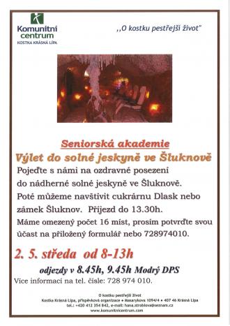 Seniorská akademie - Výlet do solné jeskyně ve Šluknově